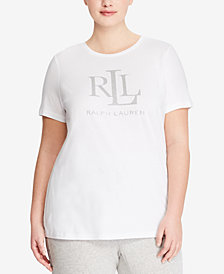 Lauren Ralph Lauren Plus Size Logo Graphic T-Shirt