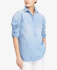 Lauren Ralph Lauren Denim Cotton Shirt