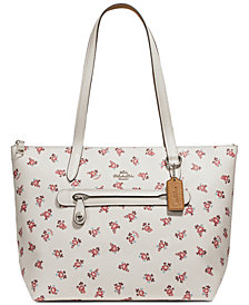 COACH Taylor Small Tote with Floral Bloom