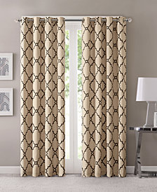 "Madison Park Saratoga 50"" x 63"" Fretwork-Print Grommet Curtain Panel"