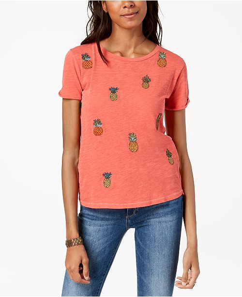 5157e4381bba5 ... Lucky Brand Embroidered Pineapple T-Shirt
