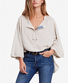 Free People Hong Kong Striped Henley Tunic