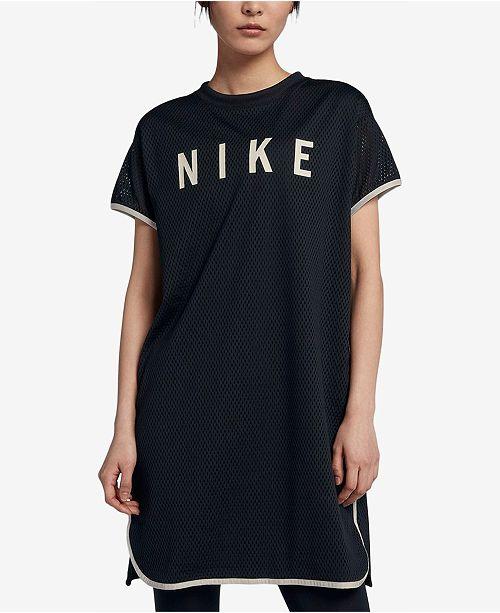 Nike Sportswear Mesh Dress   Reviews - Dresses - Women - Macy s 798120b8ef11c