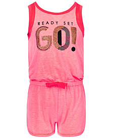 Ideology Mesh-Trim Romper, Little Girls, Created for Macy's