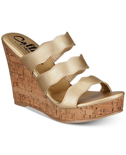 Callisto Flure Slip-On Platform Wedge Sandals Women's Shoes Sp0ltF