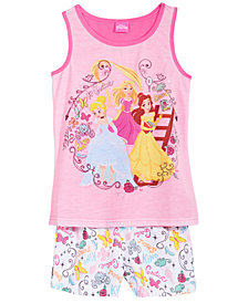 Disney's® 2-Pc. Princesses Cinderella, Belle & Rapunzel Pajama Set, Little & Big Girls