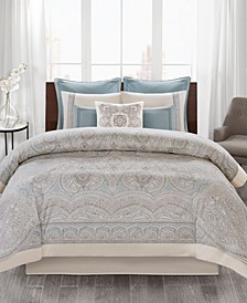 Design Larissa 4-Pc. Cotton King Comforter Set