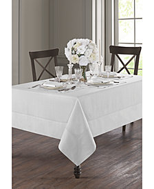 "Waterford Corra White 70"" x 104"" Tablecloth"