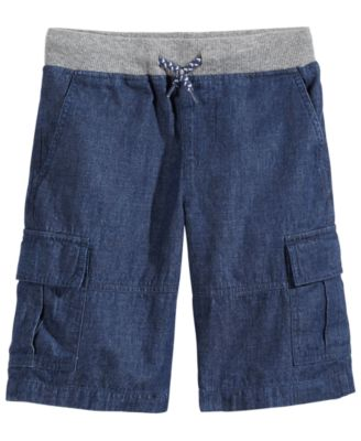 Chambray Cotton Shorts, Little Boys, Created for Macy's