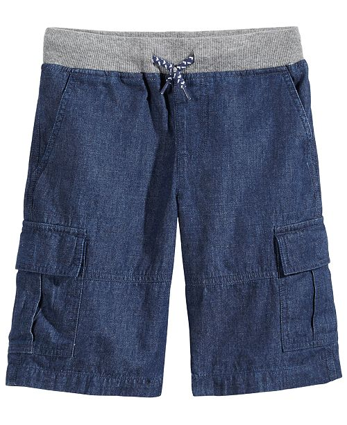 Epic Threads Chambray Cotton Shorts, Little Boys, Created for Macy's