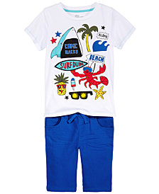 Epic Threads Graphic-Print T-Shirt & Shorts Separates, Little Boys, Created for Macy's