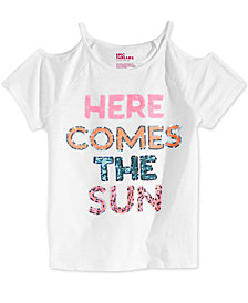 Epic Threads Sequin Cold Shoulder T-Shirt, Big Girls, Created for Macy's