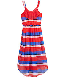 Epic Threads Striped Tie-Back Dress, Big Girls, Created for Macy's