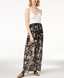 Trixxi Juniors' Strappy Contrast Maxi Dress