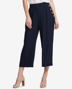 1920s Style Women's Pants, Trousers, Knickers Dkny Cropped Sailor Pants $47.60 AT vintagedancer.com