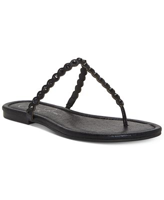 Jessica Simpson Karlee Flat Thong Sandal(Women's) -Glided Gold Fabric