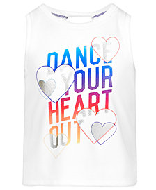 Ideology Dance-Print Tank Top, Little Girls, Created for Macy's