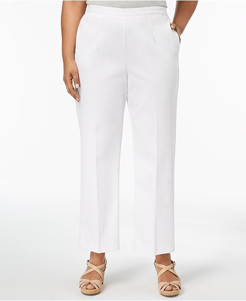 09d43a0571455 Alfred Dunner. Barcelona Plus Size Pull-On Straight-Leg Pants. 1 reviews.  main image  main image ...