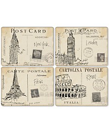 Pimpernel Postcard Sketches Set of 4 Placemats