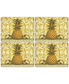 Golden Pineapple Set of 4 Placemats