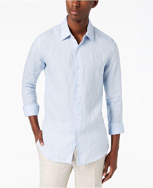 837336c1903 ... Tasso Elba Men s Long Sleeve Linen Shirt