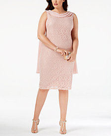 SL Fashions Plus Size Sequined Lace Sheath Dress