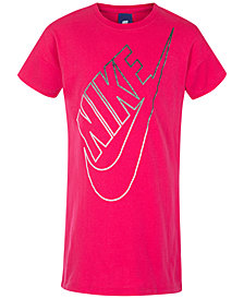 Nike Futura Logo-Print Cotton T-Shirt Dress, Little Girls
