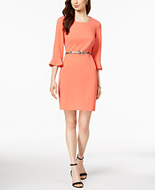 Connected Petite Bell-Sleeve Sheath Dress