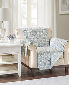 Madison Park Dawn Reversible Printed Armchair Protector