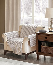 Duke Reversible Diamond-Quilted Faux-Fur Chair Protector