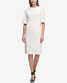 DKNY Bow-Sleeve Shift Dress, Created for Macy's