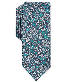 Bar III Men's Davmor Floral Skinny Tie, Created for Macy's