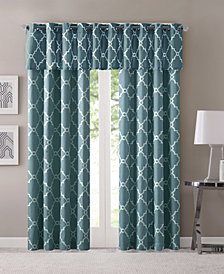 Madison Park Saratoga Fretwork-Print Grommet Curtain Panel & Valance Collection