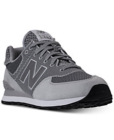 New Balance Men's 574 Knit Casual Sneakers from Finish Line