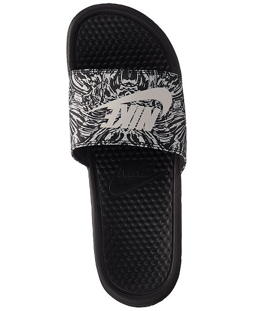280e0176b9b Nike Men s Benassi JDI Print Slide Sandals from Finish Line ...