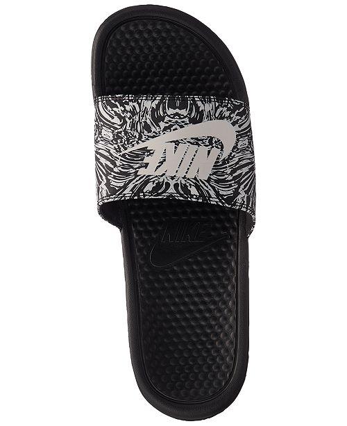 54966c059106 Nike Men s Benassi JDI Print Slide Sandals from Finish Line ...