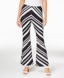 Bar III Printed Flare-Leg Pants, Created for Macy's