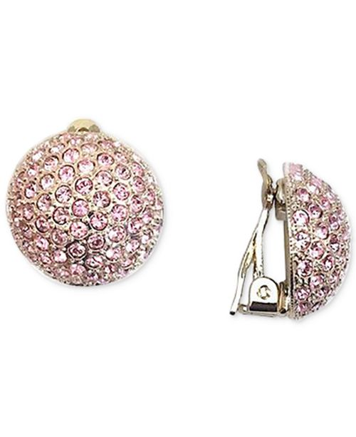 56710b1f7 Nina Swarovski Pavé Dome Clip-on Earrings & Reviews - Women - Macy's