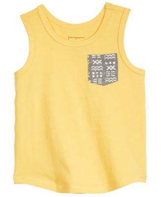 Baby Boys Printed-Pocket Cotton Tank Top, Created for Macy's