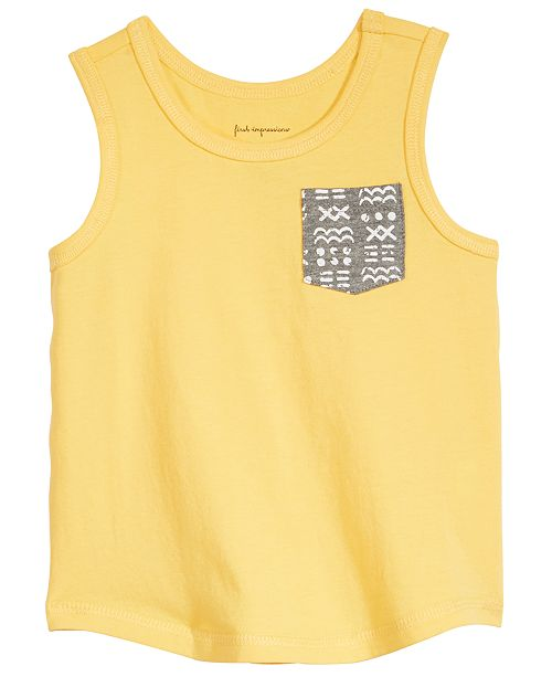981d72c013d21 First Impressions Baby Boys Printed-Pocket Cotton Tank Top