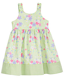 Blueberi Boulevard Baby Girls Floral-Print Cotton Sundress