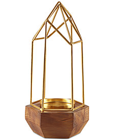 Madison Park Barraca Pyramid Candle Holder Small