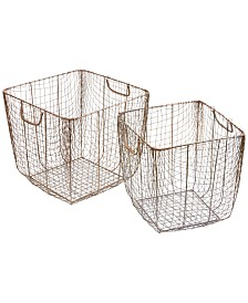 Madison Park Moraga Wire Baskets, Set of 2