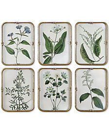 Uttermost Blue Floral Art Collection 6-Pc. Wall Art Set