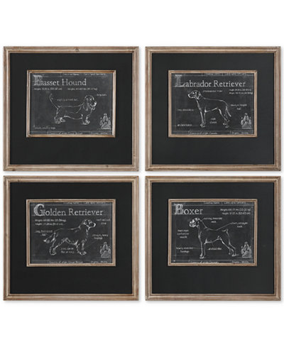 Uttermost Canis Lupus Familiaris 4-Pc. Printed Wall Art Set