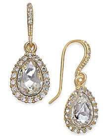 Charter Club Gold-Tone Crystal Drop Earrings, Created for Macy's