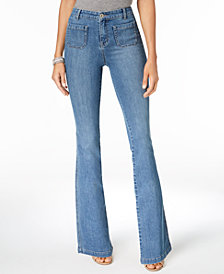 Style & Co Petite Patch-Pocket Flare-Leg Jeans, Created for Macy's