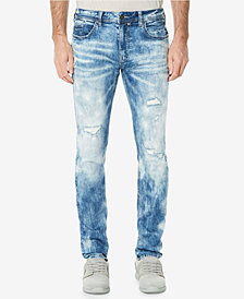 Buffalo David Bitton Men's Evan-X Sanded Slim Straight Fit Stretch Jeans