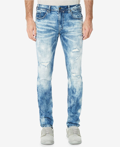 Buffalo David Bitton Men's Evan-X Sanded Skinny Fit Stretch Jeans