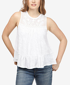 Lucky Brand Jacquard Illusion Top